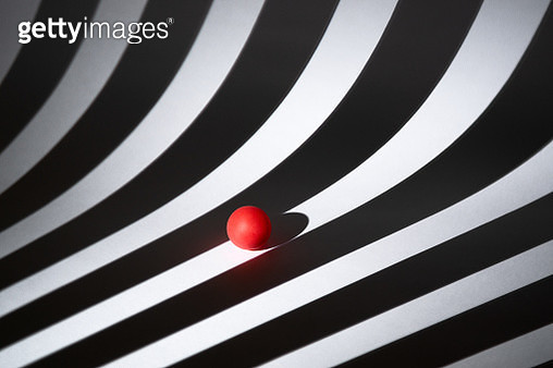 Red Point on Black and White Stripes - gettyimageskorea