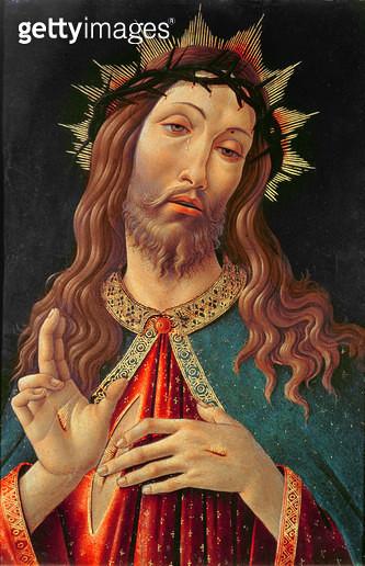<b>Title</b> : Ecce Homo, or The Redeemer, c.1474 (tempera on panel)<br><b>Medium</b> : tempera on panel<br><b>Location</b> : Galleria dell' Accademia Carrara, Bergamo, Italy<br> - gettyimageskorea