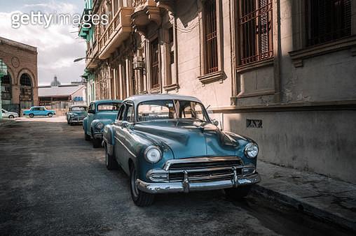 Old American car on Havana street - gettyimageskorea