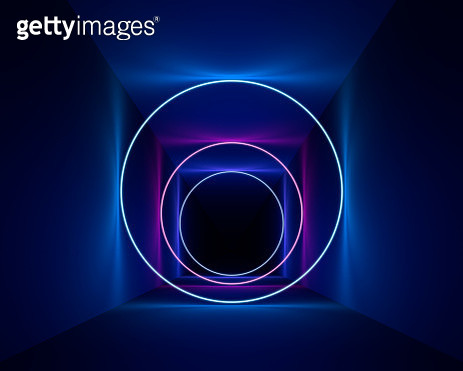 Neon circles - gettyimageskorea