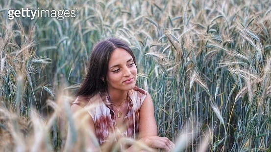 Portrait Of Beautiful Young Woman On Land - gettyimageskorea