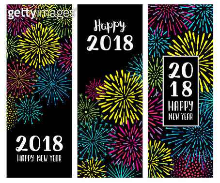 New year fireworks display banners - gettyimageskorea