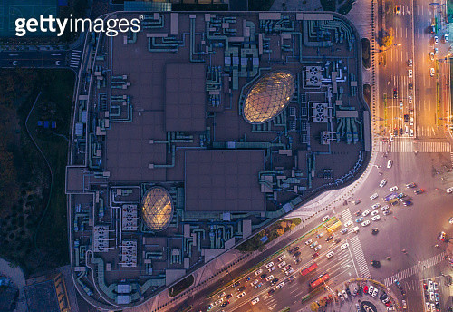 Directly above the business building - gettyimageskorea