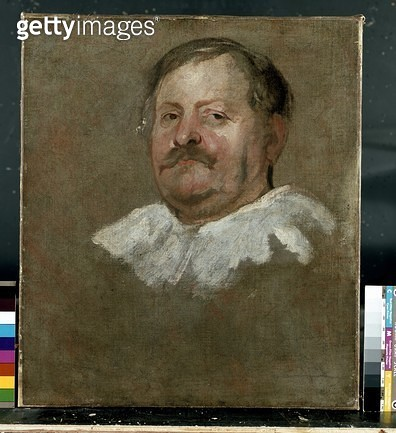 <b>Title</b> : Portrait of a Man in a Falling Collar (oil on canvas)<br><b>Medium</b> : oil on canvas<br><b>Location</b> : Ashmolean Museum, University of Oxford, UK<br> - gettyimageskorea