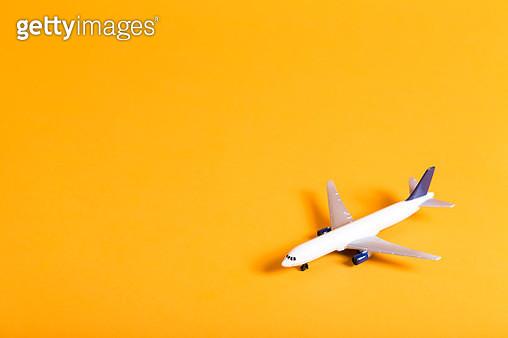Miniature airplane travel theme - gettyimageskorea