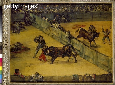 <b>Title</b> : Scene at a Bullfight: The Divided Ring (oil on canvas)<br><b>Medium</b> : oil on canvas<br><b>Location</b> : Ashmolean Museum, University of Oxford, UK<br> - gettyimageskorea