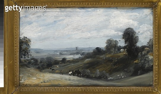 <b>Title</b> : Dedham Vale from Langham (oil on canvas)<br><b>Medium</b> : oil on canvas<br><b>Location</b> : Ashmolean Museum, University of Oxford, UK<br> - gettyimageskorea