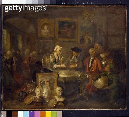 <b>Title</b> : The Marriage Contract, 1743 (oil on canvas)<br><b>Medium</b> : oil on canvas<br><b>Location</b> : Ashmolean Museum, University of Oxford, UK<br> - gettyimageskorea