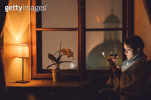 Relaxed woman at home - gettyimageskorea