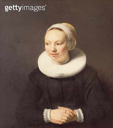 <b>Title</b> : Portrait of a Lady, 1647 (oil on panel)<br><b>Medium</b> : oil on panel<br><b>Location</b> : Private Collection<br> - gettyimageskorea