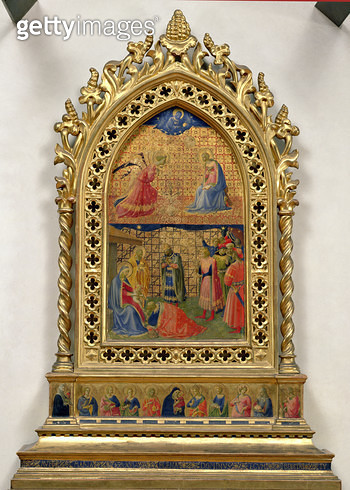 <b>Title</b> : The Annunciation and the Adoration of the Magi (tempera on panel)<br><b>Medium</b> : <br><b>Location</b> : Museo di San Marco dell'Angelico, Florence, Italy<br> - gettyimageskorea