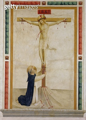 <b>Title</b> : Crucifixion with St. Dominic (fresco)Additional InfoSaint Dominique au pied de la croix;<br><b>Medium</b> : <br><b>Location</b> : Church of San Marco, Florence, Italy<br> - gettyimageskorea