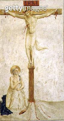 Crucifixion with St. Dominic (fresco) - gettyimageskorea