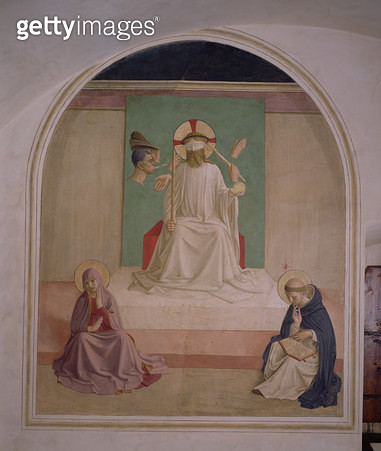 <b>Title</b> : The Mocking of Christ with the Virgin and St. Dominic, 1442 (fresco)<br><b>Medium</b> : <br><b>Location</b> : Church of San Marco, Florence, Italy<br> - gettyimageskorea