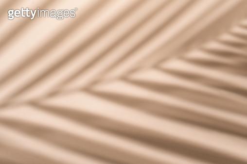 Blurred palm leaf shadow wall pastel beige background. - gettyimageskorea