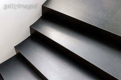 Abstract modern stairs in black and white style - gettyimageskorea