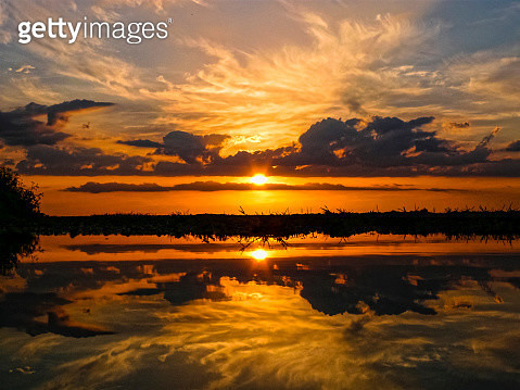 Sunset at The Everglades. Florida. USA - gettyimageskorea