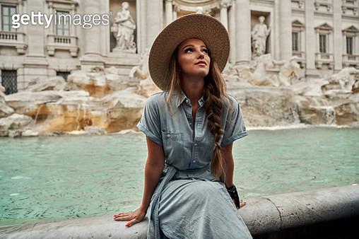 Shoot of young woman enjoying Rome - gettyimageskorea
