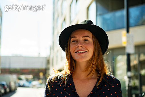 Smiling happy young woman - gettyimageskorea