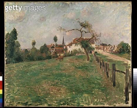 <b>Title</b> : The Village of Eragny (oil on canvas)<br><b>Medium</b> : oil on canvas<br><b>Location</b> : Ashmolean Museum, University of Oxford, UK<br> - gettyimageskorea