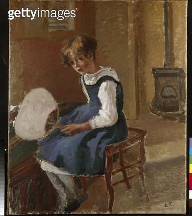 <b>Title</b> : Portrait of Jeanne Holding a Fan (oil on canvas)<br><b>Medium</b> : oil on canvas<br><b>Location</b> : Ashmolean Museum, University of Oxford, UK<br> - gettyimageskorea