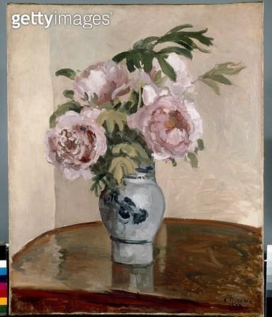 <b>Title</b> : A Vase of Peonies  1875 (oil on canvas)<br><b>Medium</b> : oil on canvas<br><b>Location</b> : Ashmolean Museum, University of Oxford, UK<br> - gettyimageskorea
