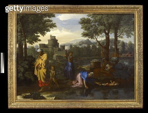 <b>Title</b> : The Finding of Moses (oil on canvas)<br><b>Medium</b> : oil on canvas<br><b>Location</b> : Ashmolean Museum, University of Oxford, UK<br> - gettyimageskorea