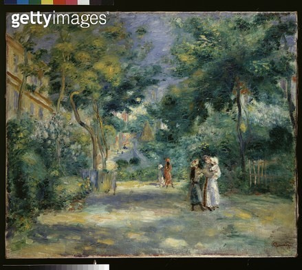 <b>Title</b> : The Gardens in Montmartre (oil on canvas)<br><b>Medium</b> : oil on canvas<br><b>Location</b> : Ashmolean Museum, University of Oxford, UK<br> - gettyimageskorea