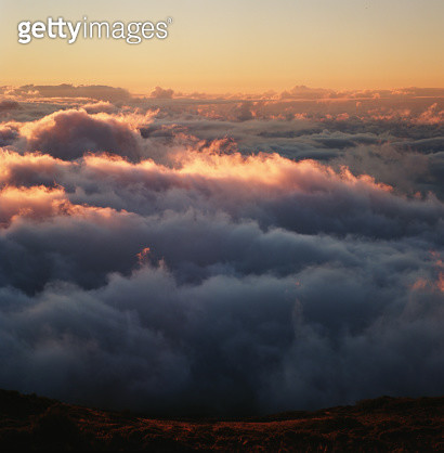 Clouds Seen From Above At Sunset - gettyimageskorea