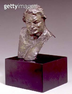 <b>Title</b> : Bust of Balzac, 1892-95 (bronze)<br><b>Medium</b> : bronze<br><b>Location</b> : Private Collection<br> - gettyimageskorea