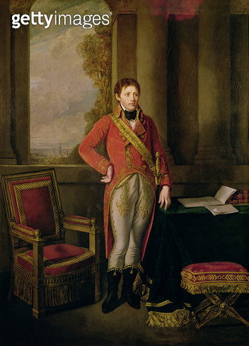<b>Title</b> : Napoleon Bonaparte (1769-1821) as First Consul, 1799-1805 (oil on canvas)<br><b>Medium</b> : oil on canvas<br><b>Location</b> : Chateau de Versailles, France<br> - gettyimageskorea