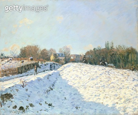 <b>Title</b> : Effect of Snow at Argenteuil, 1874 (oil on canvas)<br><b>Medium</b> : oil on canvas<br><b>Location</b> : Private Collection<br> - gettyimageskorea
