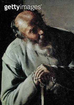 <b>Title</b> : An Old Man, detail of the head, c.1618-19 (oil on canvas)<br><b>Medium</b> : oil on canvas<br><b>Location</b> : Fine Arts Museums of San Francisco, CA, USA<br> - gettyimageskorea