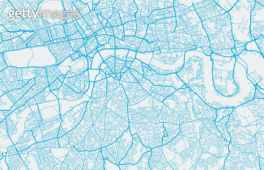 London city map. Map data © OpenStreetMap contributors. - gettyimageskorea