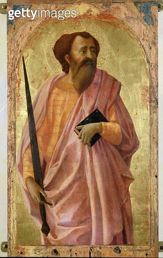 <b>Title</b> : St. Paul, 1426 (tempera on panel)<br><b>Medium</b> : tempera on panel<br><b>Location</b> : Museo Nazionale, Pisa, Italy<br> - gettyimageskorea