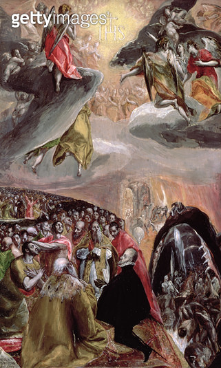 <b>Title</b> : The Adoration of the Name of Jesus, c.1578 (oil & tempera on wood)<br><b>Medium</b> : oil and tempera on pine<br><b>Location</b> : National Gallery, London, UK<br> - gettyimageskorea