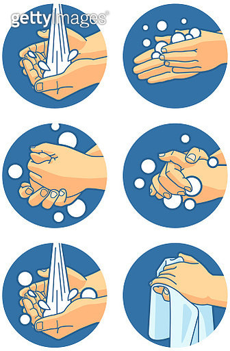 Hand Washing Instructions - gettyimageskorea