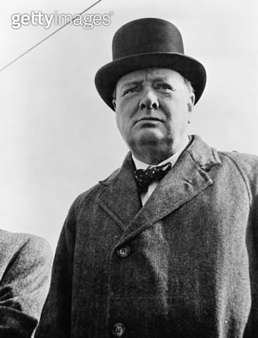 WINSTON CHURCHILL /n(1874-1965). Sir Winston Leonard Spencer Churchill. English statesman and writer. Photograph, 1942. - gettyimageskorea