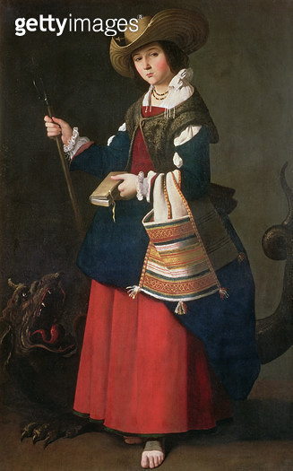 <b>Title</b> : Saint Margaret of Antioch, 1630-34 (oil on canvas)<br><b>Medium</b> : oil on canvas<br><b>Location</b> : National Gallery, London, UK<br> - gettyimageskorea