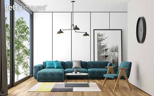 Scandinavian style living room - gettyimageskorea