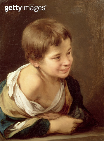 <b>Title</b> : A Peasant Boy Leaning on a Sill, 1670-80 (oil on canvas)<br><b>Medium</b> : oil on canvas<br><b>Location</b> : National Gallery, London, UK<br> - gettyimageskorea