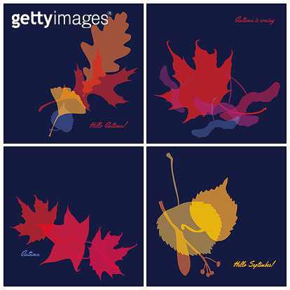 Set of Autumn Banners - gettyimageskorea