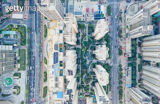 Aerial view of city - gettyimageskorea