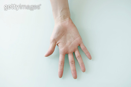 Woman palm up hand - gettyimageskorea