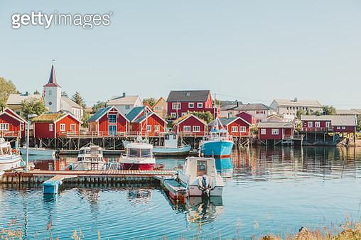 Typical view of Lofoten Island, Norway - gettyimageskorea