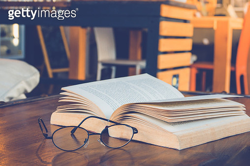 Close-Up Of Book On Table - gettyimageskorea
