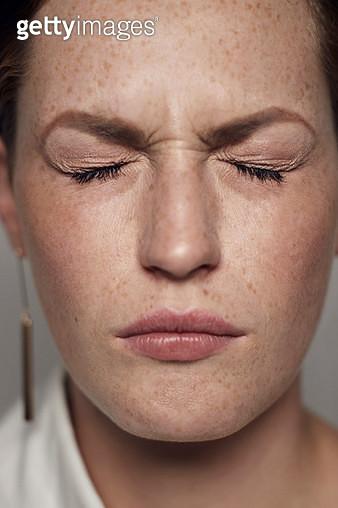 Studio portrait shoot with non-binary people photographed in cinematic lighting - gettyimageskorea