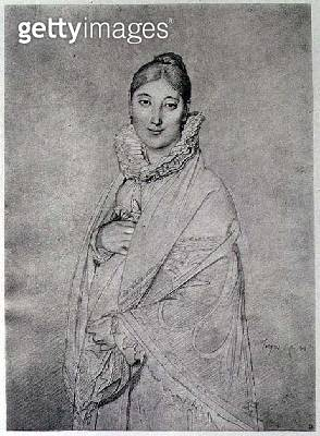 <b>Title</b> : Portrait of a Woman, 1814 (litho)<br><b>Medium</b> : lithograph<br><b>Location</b> : Private Collection<br> - gettyimageskorea