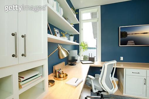 Modern Contemporary Interior Design of Home Office Room - gettyimageskorea