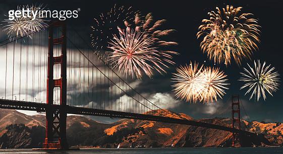 fireworks in san francisco - gettyimageskorea